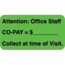 D1024 - ATTENTION: OFFICE STAFF - Fluorescent Green/Bk