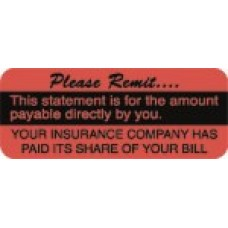 D1027 - PLEASE REMIT - Fluorescent Red with Black Print