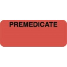 D1032 - PREMEDICATE - Fluorescent Red with Black Print