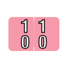 DBKM-10 | Pink #10-19 Barkley Double Digit 1H x 1-1/2W Laminated 500/Box