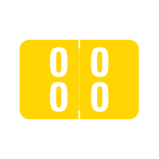 DDS-00 | Yellow #00-09 Smead Double Digit 1H x 1-1/2W Laminated 500/Box