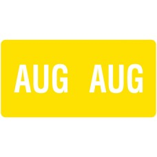 ETS-08 | Smead 67458 Yellow August Month Labels Size 1/2H x 1W 250/Pack