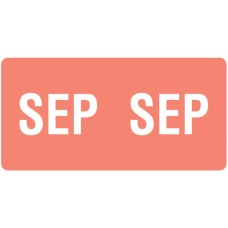 ETS-09 | Smead 67459 Pink September Month Labels Size 1/2H x 1W 250/Pack