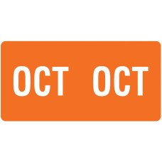 ETS-10 |Smead 67460 Orange October Month Labels Size 1/2H x 1W 250/Pack