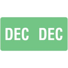 ETS-12 | Smead 67462 Light Green December Month Labels Size 1/2H x 1W 250/Pack