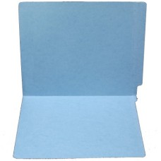 F15RS-0-BL | 15pt. Blue Colored End Tab File Folders, No Fasteners, Letter Sz, 50/bx
