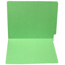 F15RS-0-GR | 15pt. Green Colored End Tab File Folders, No Fasteners, Letter Sz, 50/bx