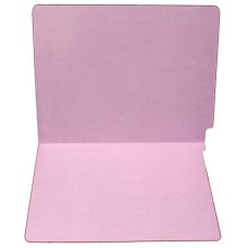 F15RS-0-LA | 15pt. Lavender End Tab File Folders, No Fasteners, Letter Sz, 50/bx