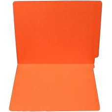F11RS-0-OR | 11pt. Orange Colored End Tab File Folders, No Fasteners, 100/bx
