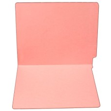 F11RS-0-PK | 11pt. Pink Colored End Tab File Folders, No Fasteners, 100/bx