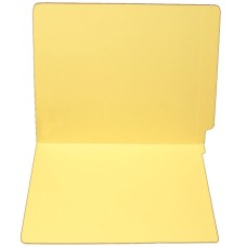 F15RS-0-YL | 15pt. Yellow Colored End Tab File Folders, No Fasteners, Letter Sz, 50/bx