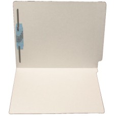 F11RS-1-GY | 11pt. Gray Colored End Tab File Folders, Letter Sz, 1 Fastener, 50/bx