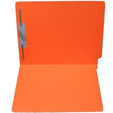 F11RS-1-OR | 11pt. Orange Colored End Tab File Folders, Letter Sz, 1 Fastener, 50/bx