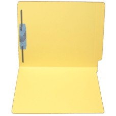 F11RS-1-YL | 11pt. Yellow Colored End Tab File Folders, Letter Sz, 1 Fastener, 50/bx