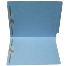 F11RS-13-BL | 11pt. Blue Colored End Tab File Folders, Letter Sz, 2 Fasteners, 50/bx