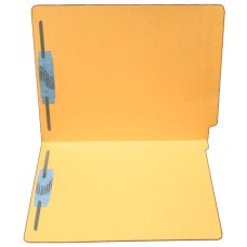 F11RS-13-GO | 11pt. Goldenrod Colored File Folders, Letter Sz, 2 Fasteners, 50/bx