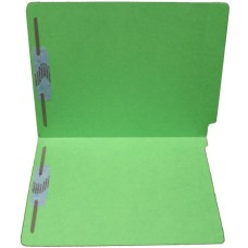 F15RS-13-GR | 15pt. Green End Tab Folders, 2 Fasteners, Pos 1 & 3, Letter Sz, 50/bx