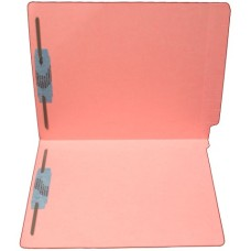 F11RS-13-PK | 11pt. Pink Colored End Tab File Folders, Letter Sz, 2 Fasteners, 50/bx