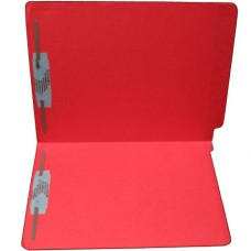 F15RS-13-RD | 15pt. Red End Tab Folders, 2 Fasteners, Pos 1 & 3, Letter Sz, 50/bx