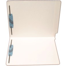 F11RS-13-WT | 11pt. White Colored End Tab File Folders, Letter Sz, 2 Fasteners, 50/bx
