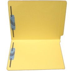 F15RS-13-YL | 15pt. Yellow End Tab Folders, 2 Fasteners, Pos 1 & 3, Letter Sz, 50/bx