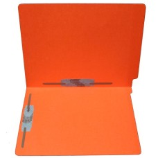 F15RS-35-OR | 15pt. Orange End Tab Folders, 2 Fasteners, Pos 3-5, Letter Sz, 50/bx