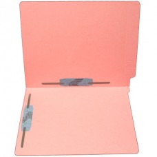 F15RS-35-PK | 15pt. Pink End Tab Folders, 2 Fasteners, Pos 3-5, Letter Sz, 50/bx