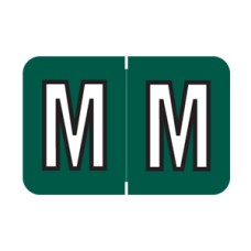 MBRK-M | Green M MAP | Barkley Sycom Alpha Labels - 126 Labels In Each Pack