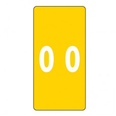 LCC-0 | Smead 67220 Yellow #0 Numeric Labels Size 2H x 1W 250/Box