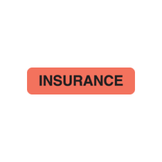 MAP119 - INSURANCE - Fluorescent Red with Black Print