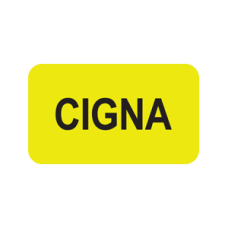 MAP1430 - CIGNA - Fluorescent Chartreuse with Black Print