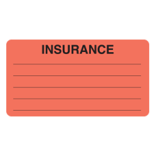 MAP1570 - INSURANCE - Fluorescent Red with Black Print