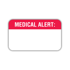 MAP1600 - MEDICAL ALERT Labels - White with Red Print