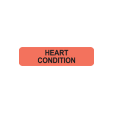 MAP187 - HEART CONDITION - Fluorescent Red/Black Print