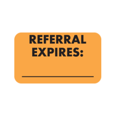 MAP2330 - REFERRAL EXPIRES: - Fl Orange with Bk Print