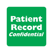MAP255 - PATIENT RECORD CONFID - Green/White Print