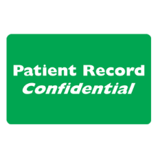 MAP256 - PATIENT RECORD CONFID - Green/White Print