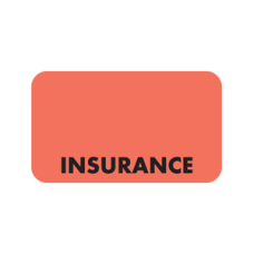 MAP2840 - INSURANCE - Fluorescent Red with Black Print