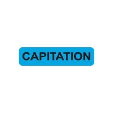 MAP302 - CAPITATION - Blue Label with Black Print 500/Bx