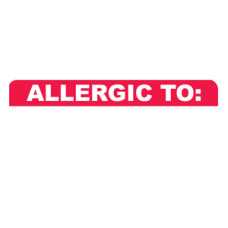 MAP3290 - ALLERGIC TO: - White and Red with White Print