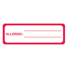 MAP3360 - ALLERGIC: - Allergy Labels White and Red