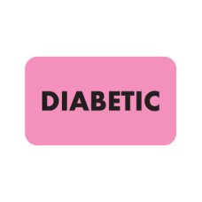 MAP3530 - DIABETIC Labels - Fluorescent Pink with Black Print