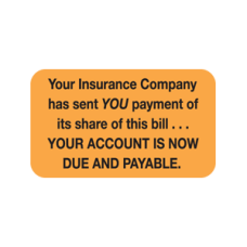 MAP4100 - YOUR INSURANCE - Fl Orange with Black Print