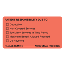 MAP4180 - PATIENT RESPONSIBILITY - Fl Red/Black Print