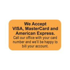 MAP4660 - WE ACCEPT VISA - Fluorescent Orange/Bk Print