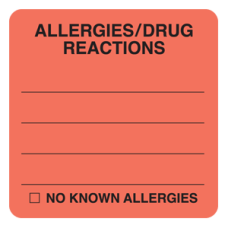 MAP4870 - ALLERGIES/DRUG REACTION - Fl Red/Bk Print