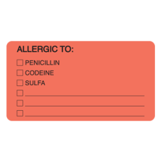 MAP4900 - ALLERGIC TO: PEN - Fluorescent Red/Bk Print