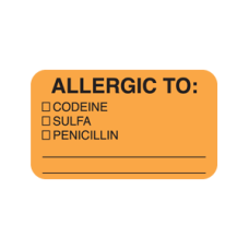 MAP4920 - ALLERGIC TO: CODEINE - Fl Orange/Bk Print