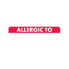 MAP498 - ALLERGIC TO: - White and Red with White Print