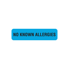 MAP506 - NO KNOWN ALLERGIES - Blue with Black Print